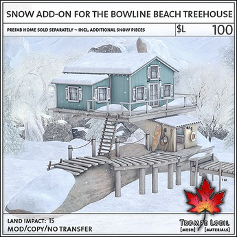 Trompe Loeil - Snow Add-On for Bowline Beach Treehouse [mesh]