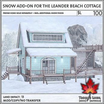 Trompe Loeil - Snow Add-On for the Leander Beach Cottage [mesh]