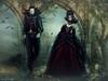 Halloween victorian vampire couple artistique