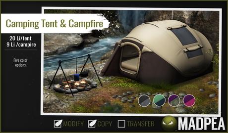 MadPea Camping Tent & Campfire PG