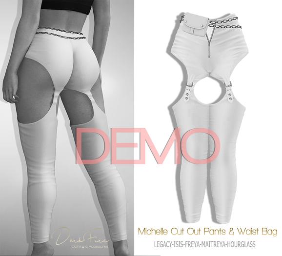 DarkFire Michelle CutOut Pants w/Bag-DEMO