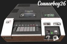 !six o'clock! [VINTAGE ELECTRONICS-8] 1978 Top-Load VTR*