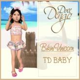 {D:D} Bikini unicorn TD Baby Fitted