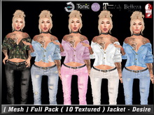 [ Mesh ] Full Pack ( 10 Textured ) Jacket - Desire