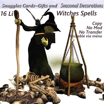 Witches Spells v19 Halloween decor  Box