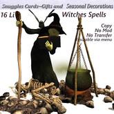 Witches Spells v19 Halloween decor  Box