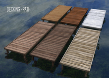 Decking - Wooden Path Straight - Bergamot - 6 texture options