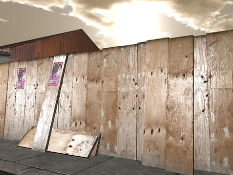 Old Plywood Fence - Mesh - 1 prim each