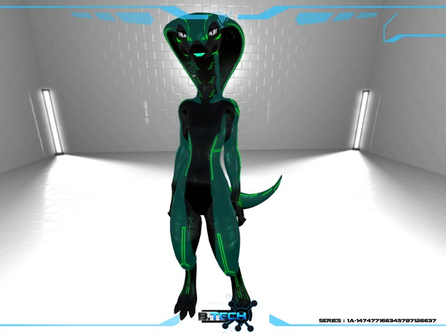 Snokra Snake - BIO TEK SKIN - GREEN