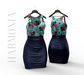 * Harmonia Original Mesh Denim Floral Ella Dress Maitreya