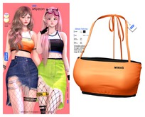 MIWAS / Miyeon Tube top #Orange
