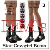 Blackburns Star Cowgirl Boots MRCSB DEMO