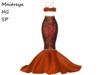 ~PP~  Fall Swirl Sequined Mermaid Skirt Set