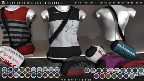 """""""TD"""" Traveler v2 Men_Shirt & Backpack"""