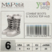 Youth Combat Boots- Slate