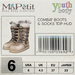 Youth Combat Boots - Sand
