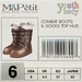 Youth Combat Boots - Pecan
