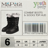 Youth Combat Boots - Noir