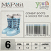 Youth Combat Boots - Meringue