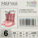 Youth Combat Boots - Cotton Candy