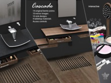 Lux Home: Contemporary Bathroom Sink - CASCADE