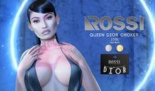 ROSSI. Queen.Dior Choker GOLD