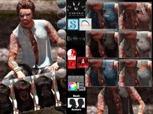 V-Twins Biker Clothes - Firelock Biker Vest Color Version **MESH (Mesh Body Compatible)