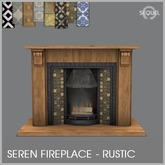 Sequel - Seren Fireplace - Rustic (Add)