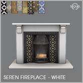 Sequel - Seren Fireplace - White