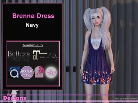 Brenna Dress Navy