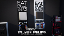 BackBone Wall Mount Game Rack - Black