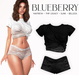 Blueberry - Noelia - Top & Shorts - Black