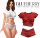 Blueberry - Noelia - Top & Shorts - Red