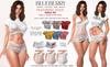 Blueberry - Noelia - Top & Shorts - Fat Pack
