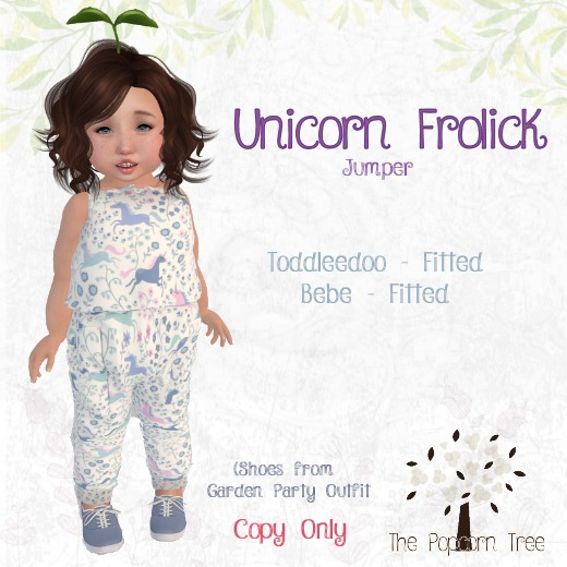 TPT - Unicorn Frolick Jumper - Fitted: TD & bebe
