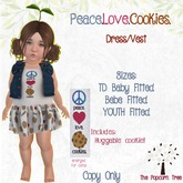TPT - Peace.Love.Cookies - Fitted TD/Bebe/YOUTH