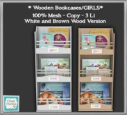 *CC* Wooden Bookcases/GIRLS  [boxed]