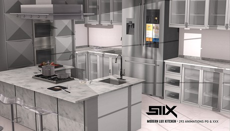 Second Life Marketplace Siix Modern Lux Kitchen Pg