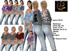 [RG] Shoulder Free Jeans Shirt Fat Pak (Box)