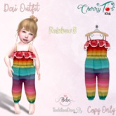 *Cherry Tot* TDB/BEBE Fitted Dai Outfit Rainbow B (Wear&Click)