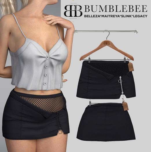 Bumblebee - Vedia Skirt with Socks - Black