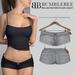 Bumblebee - Sophie Denim Mini Shorts - White