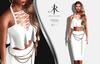 [KR] CORINA TOP&SKIRT -WHITE-   (wear)