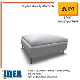 IDEA - Alexa - Ottoman - White