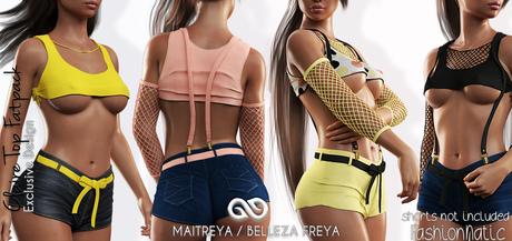 CLAIRE FEMALE TOP FATPACK - MESH - Maitreya Lara, Belleza Freya - FashionNatic