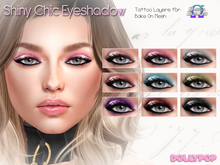 ~Dollypop~ Shiny Chic Eyeshadow - Omega & Bake On Mesh (Genus Fit)