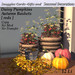 Daisy Pumpkins Autumn Baskets  [ reds ] By Snuggles  Boxed