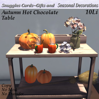 Autumn Hot Chocolate Table By Snuggles  Boxed