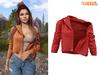 TETRA - Moto leather jacket (Red)