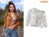 TETRA - Moto leather jacket (White)